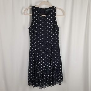 Lauren Ralph Lauren Polka-Dot Fit & Flare Dress S4